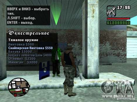 Gun Seller RUS para GTA San Andreas