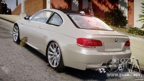 BMW M3 E92 para GTA 4 Vista posterior izquierda