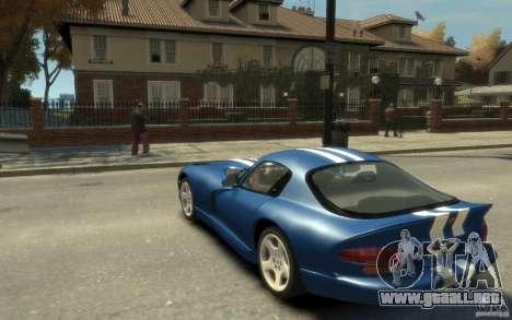 Dodge Viper GTS para GTA 4 Vista posterior izquierda