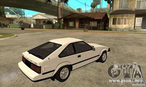 Toyota Celica Supra 1984 para la visión correcta GTA San Andreas
