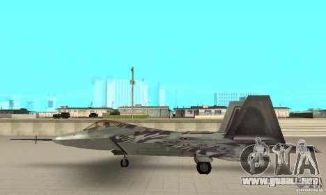 YF-22 Starscream para GTA San Andreas left