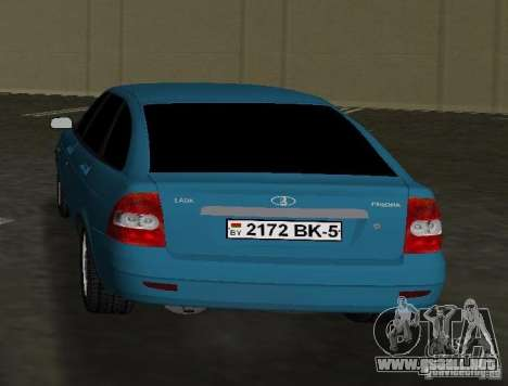 Lada Priora Hatchback para GTA Vice City vista lateral izquierdo