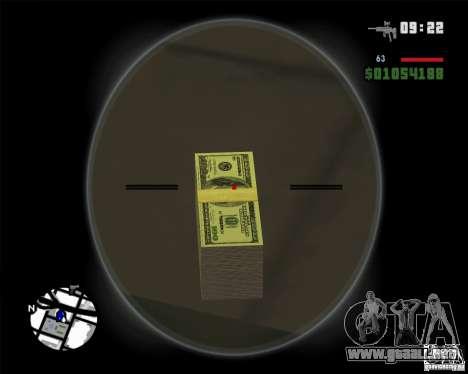 Dinero HD para GTA San Andreas segunda pantalla