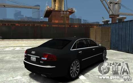Audi A8L W12 Quattro para GTA 4 visión correcta