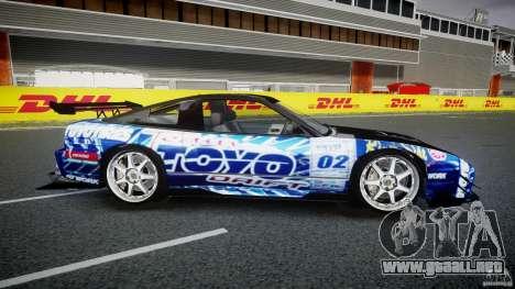 Nissan 240sx Toyo Kawabata para GTA 4 vista lateral