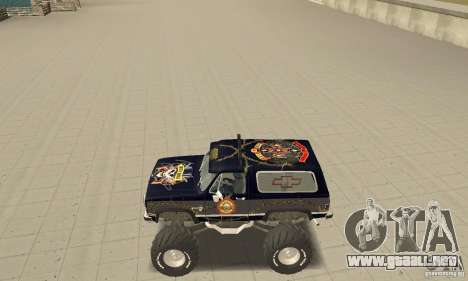 Chevrolet Blazer K5 Monster Skin 2 para GTA San Andreas