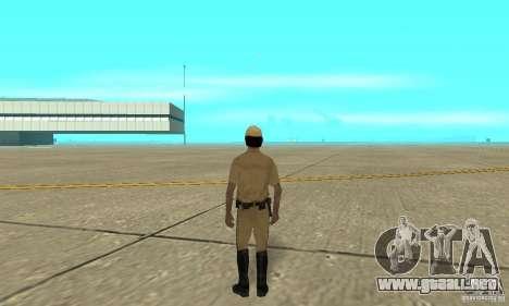 New uniform cops on bike para GTA San Andreas tercera pantalla