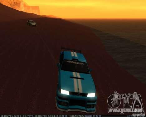 Nuevos vinilos en Sultan para GTA San Andreas vista hacia atrás