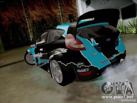 Ford Fiesta RS para GTA San Andreas vista posterior izquierda