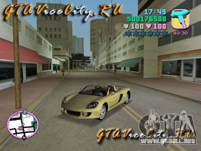 Porsche Carrera GT para GTA Vice City