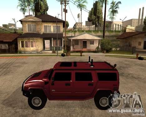 Hummer H2 SE para GTA San Andreas left