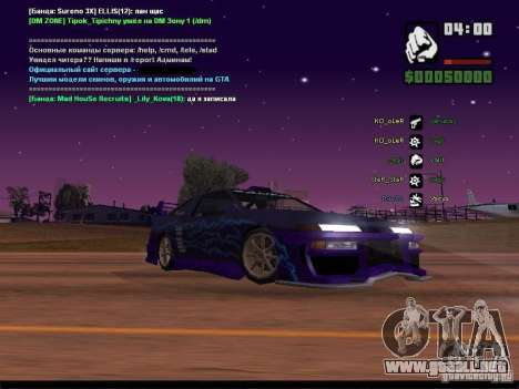 Cielo estrellado v2.0 (para SA: MP) para GTA San Andreas octavo de pantalla