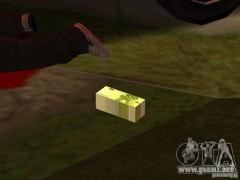 Euro money mod v 1.5 100 euros II para GTA San Andreas