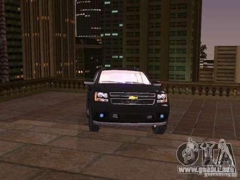 Chevrolet Avalanche para GTA San Andreas vista posterior izquierda