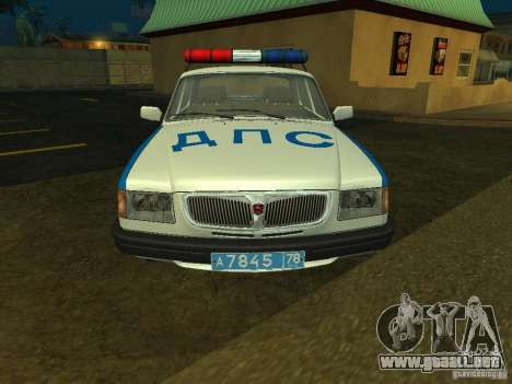 GAZ 3110 policía para GTA San Andreas left