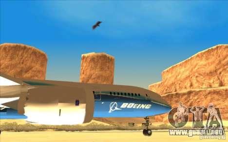 Boeing 787 Dreamlinear para la visión correcta GTA San Andreas
