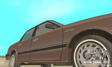 Oldsmobile Cutlass Ciera 1993 para vista inferior GTA San Andreas