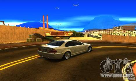 BMW M3 Tuneable para GTA San Andreas vista posterior izquierda