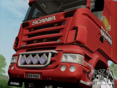 Scania R620 Brahma para vista lateral GTA San Andreas