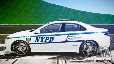 Honda Accord Type R NYPD (City Patrol 2322) ELS para GTA 4 vista interior