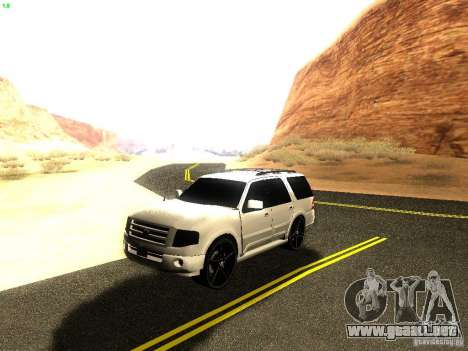 Ford Expedition 2008 para visión interna GTA San Andreas