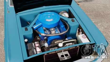 Ford Mustang Customs 1967 para GTA 4 vista interior
