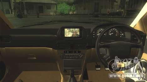 Toyota Corolla G6 Compact E110 JP para visión interna GTA San Andreas