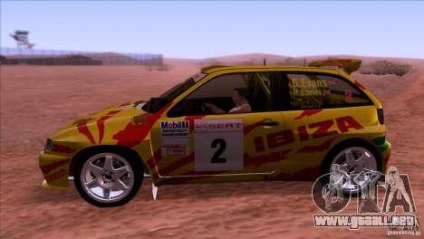 Seat Ibiza Rally para la visión correcta GTA San Andreas