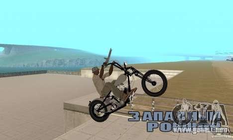 HD Shovelhead Chopper v2.1-cromo para la visión correcta GTA San Andreas
