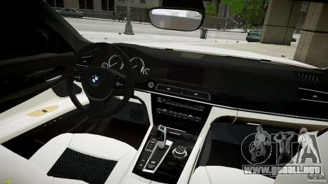BMW 750Li Sedan ASANTI para GTA 4 visión correcta