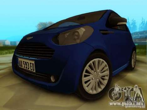 Aston Martin Cygnet para GTA San Andreas left
