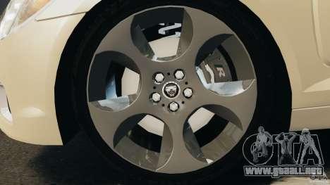 Jaguar XFR 2010 v2.0 para GTA 4 visión correcta