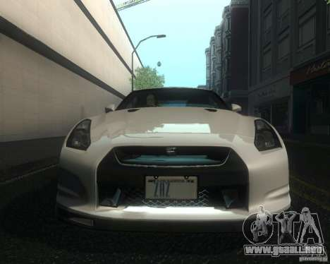 Nissan GTR R35 Spec-V 2010 Stock Wheels para vista lateral GTA San Andreas