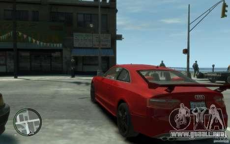 Audi S5 v2 para GTA 4 Vista posterior izquierda
