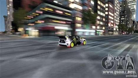 Subaru Impreza WRX STI Rallycross Monster Energy para GTA 4 vista interior