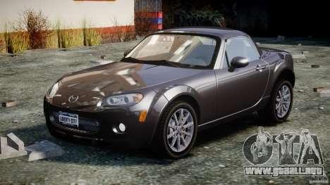 Mazda MX-5 para GTA 4 vista hacia atrás