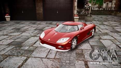 Koenigsegg CCX v1.1 para GTA 4 visión correcta