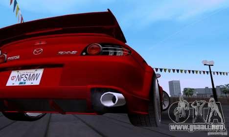 Mazda RX-8 Speed para visión interna GTA San Andreas