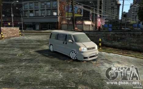 Volkswagen Transporter T4 para GTA 4 Vista posterior izquierda