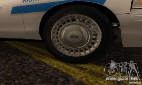 Ford Crown Victoria Arizona Police para la visión correcta GTA San Andreas