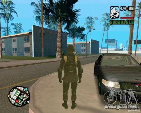 Piel SAS para GTA San Andreas sucesivamente de pantalla