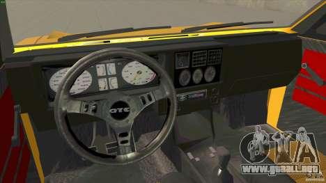 Opel Kadett D GTE Mattig Tuning para GTA San Andreas vista hacia atrás