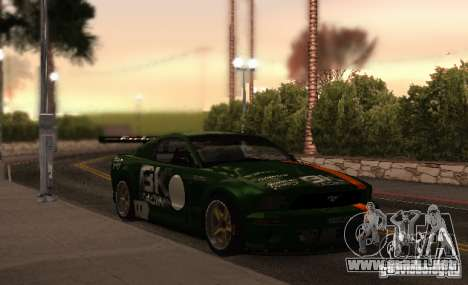 Ford Mustang GT-R para vista inferior GTA San Andreas