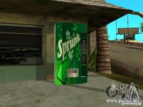 Nuevas texturas para máquinas para GTA San Andreas segunda pantalla