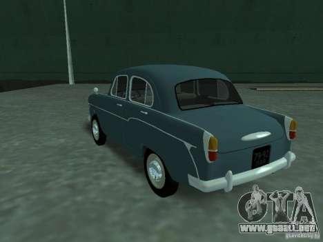 Moskvich 407 para GTA San Andreas vista posterior izquierda