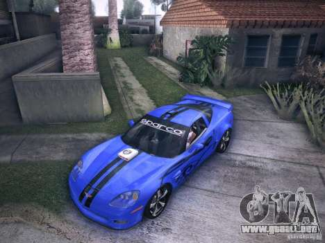 Chevrolet Corvette C6 Z06 Tuning para la vista superior GTA San Andreas