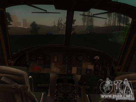 Helicóptero Huey de call of duty ops negro para GTA San Andreas left