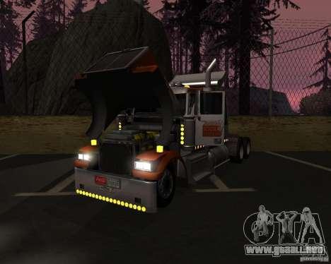 Western Star 4900 EX para la visión correcta GTA San Andreas