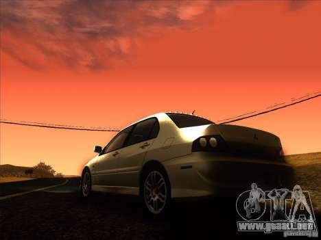 Mitsubishi Lancer Evolution IX MR para vista inferior GTA San Andreas