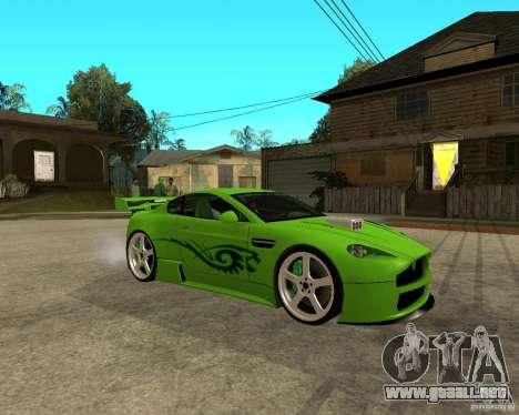 Aston Martin Vantage V8 - Green SHARK TUNING! para la visión correcta GTA San Andreas